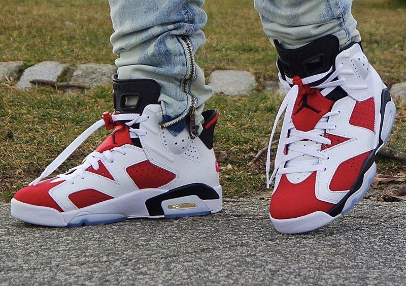 2021 Air Jordan 6 Carmine On Feet
