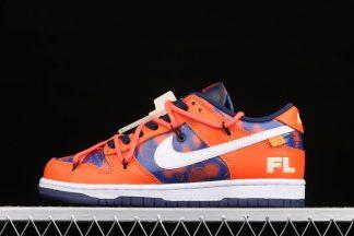 Futura x Off-White x Nike SB Dunk Low In Orange