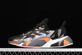 Mens adidas X9000L4 BOOST Black Signal Orange Grey Running Shoes
