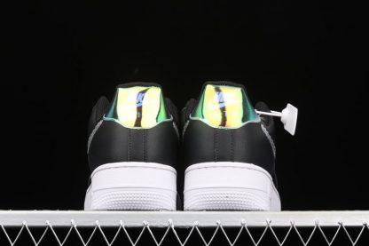 Nike Air Force 1 Iridescent Pixel In Black CV1699-002 Heel
