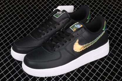 Nike Air Force 1 Iridescent Pixel In Black CV1699-002 Top