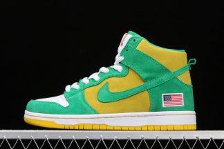 Nike SB Dunk High Oakland Athletics Stadium Green 305050-337 To Buy