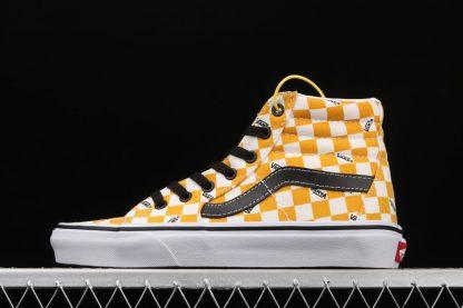 Vans Big Check SK8-HI Yolk Yellow True White