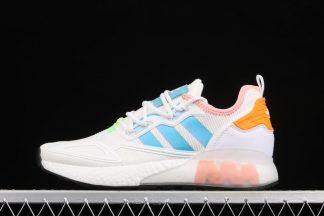 adidas Schuhe Damen ZX 2K Boost Core White Hazy Sky Glow Pink