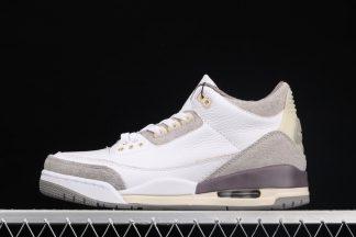 A Ma Maniere x Air Jordan 3 White Medium Grey-Violet Ore