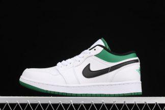 Air Jordan 1 Low Boston Celtics White Lucky Green 553558-129 Sale