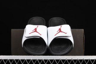 Compra Online Jordan Hydro 6 Slides White Black-Gym Red