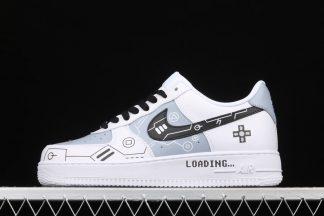 Custom Nike Air Force 1 Low PS5 Black White Blue