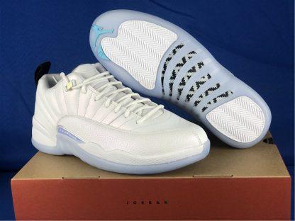 DB0733-190 Air Jordan 12 Low Easter White White-Multicolor