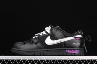 DM1602-001 Off-White x Nike Dunk Low The 50 Black Silver Purple