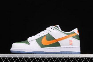 DN2489-300 Nike Dunk Low NY vs. NY Sage Green White-Bright Orange