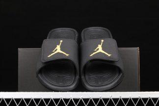 Jordan Hydro 6 Slides Black Metallic Gold Baratas