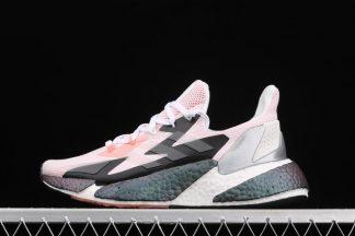 Ladies Adidas X9000L4 Glow Pink Crystal White-Silver Metallic