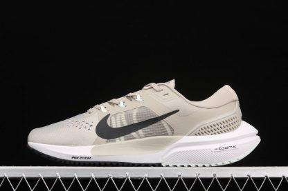 Mens Nike Air Zoom Vomero 15 Stone Black-Light Army-Off Noir