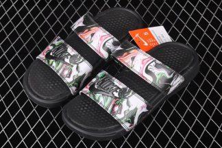 Nike Benassi Duo Ultra Slide Black Green Pink