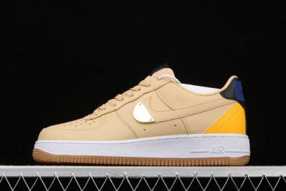 NBA x Nike Air Force 1 Low Sesame University Gold-Deep Royal Blue