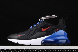 Nike Air Max 270 Black Chile Red-Hyper Royal-White DC0957-001 On Sale