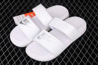 Nike Benassi Duo Ultra Slide White Metallic Silver