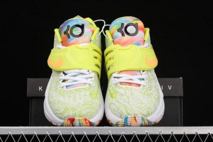 Nike KD 14 Cyber White Lime Green CZ0170-101 Front
