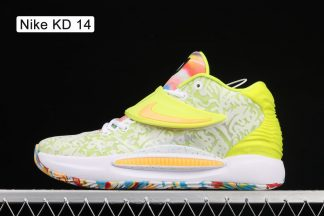 Nike KD 14 Cyber White Lime Green CZ0170-101 On Sale