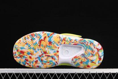 Nike KD 14 Cyber White Lime Green CZ0170-101 Sole