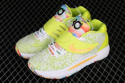 Nike KD 14 Cyber White Lime Green CZ0170-101 To Buy