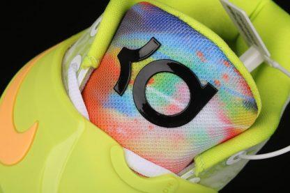Nike KD 14 Cyber White Lime Green CZ0170-101 Tongue