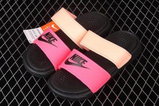 Nike WMNS Benassi Duo Ultra Slide Racer Pink Black Sunset Glow