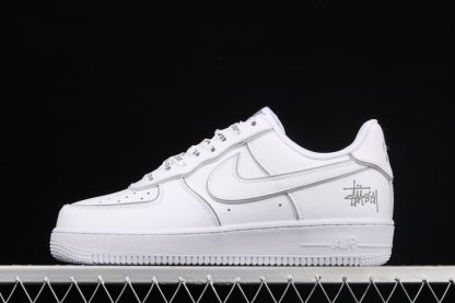 Stussy x Nike Air Force 1 Low Reflective White Silver