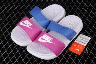 Wmns Nike Benassi Duo Ultra Slide White Pink Blue