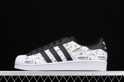 adidas Superstar Label Collage Printed Whole Body White