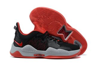 CW3143-002 Nike PG 5 Bred Black University Red-White