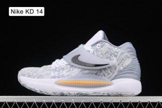 CW3935-100 Marbled Nike KD 14 Home White Black Grey