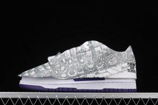 DJ4636-100 Nike Dunk Low Flip The Old School Purple White