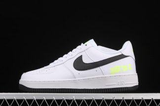 DJ6878-100 Nike Air Force 1 Low Just Do It White Black Volt