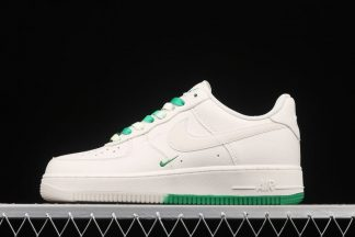 Double Mini Swooshed Nike Air Force 1 Low Sail Green