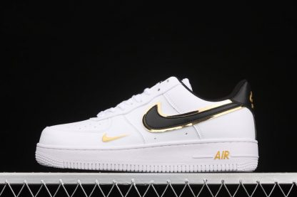 Double Swoosh Air Force 1 Low White Gold Mini Swooshes