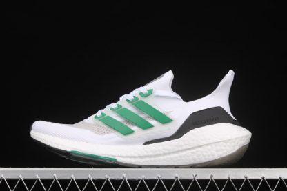 FZ2326 adidas Ultra Boost 2021 White Sub Green