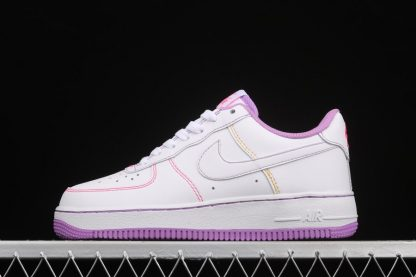 Kids Exclusive Nike Air Force 1 Low White Fuchsia Glow-Hyper Pink