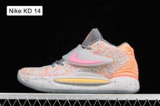 New Nike KD 14 Grey Orange
