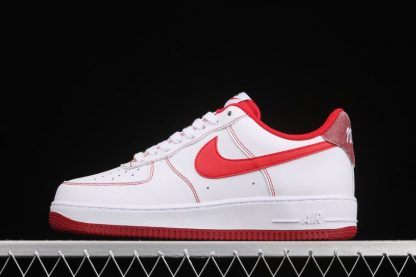 Nike Air Force 1 Low First Use White Bright Red-Burgundy