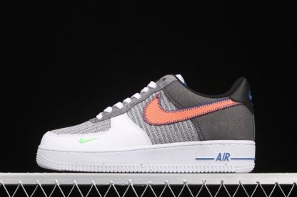 Nike Air Force 1 Low Recycled Materials White Sport Red-Grey
