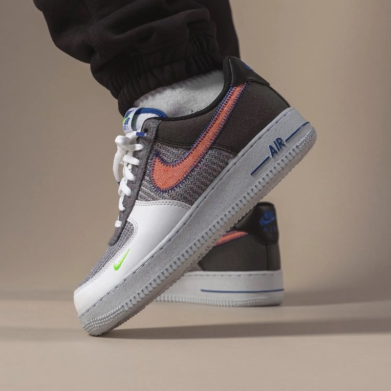 Nike Air Force 1 Low Recycled White Grey On Feet