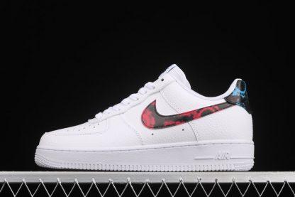 Nike Air Force 1 Low Tie-Dye White Bright Crimson-Laser Blue-Black