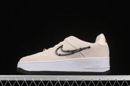 Nike Air Force 1 Sage Low LX Light Cream Black-Metallic Gold-White