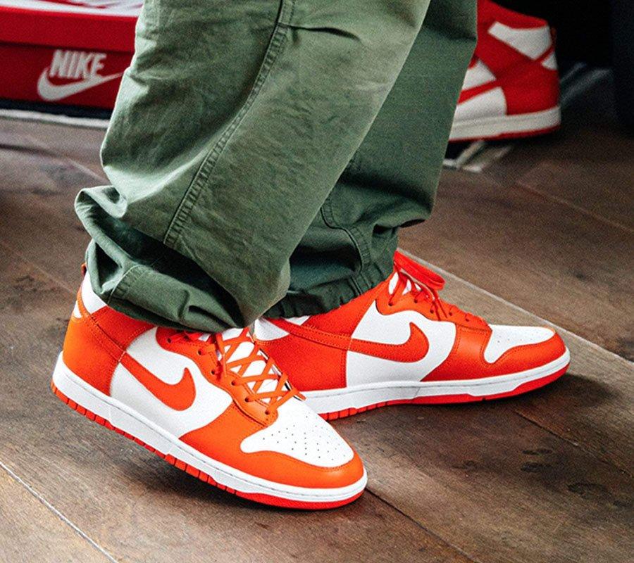 Nike Dunk High Syracuse On Feet