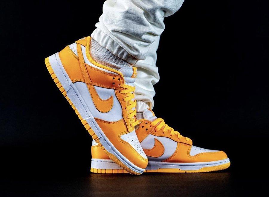 Nike Dunk Low Laser Orange On Feet