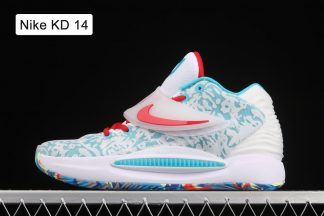 Nike KD 14 White Blue Red Basketball Sneakers