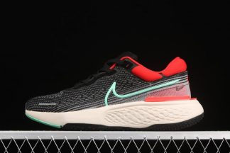 Nike ZoomX Invincible Run Flyknit Black Green Glow-Chile Red