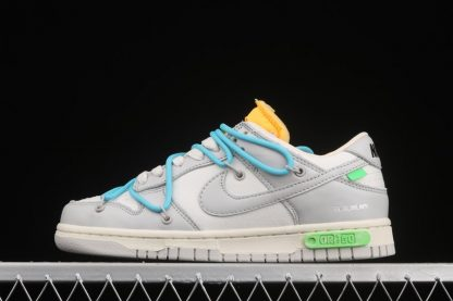 Off-White x Nike Dunk Low 02 of 50 Sail Neutral Grey With Blue Laces